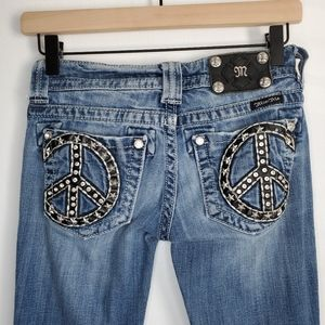 Miss Me jeans peace sign 24 boot